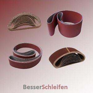 Schleifbänder Schleifband Gewebe - Abmessung, Körnung und Stückzahl wählbar