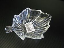 "SMALL MIKASA ""DIAMOND FIRE"" LEAF CANDY DISH"