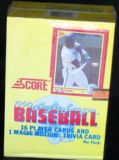 1990  Score  Baseball  sealed  Box MLB
