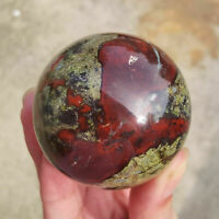Natural dragon blood stone quartz sphere Reiki Healing Crystal Ball 1PC 50mm