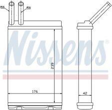 HVAC Heater Core Front Nissens 73642