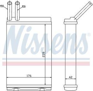 HVAC Heater Core-GAS, Turbo Front Nissens 73642