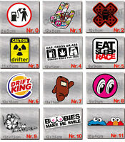 10 Aufkleber im SET Shocker Hand - JDM Sticker - OEM Auto Decals FUN Stickerbomb
