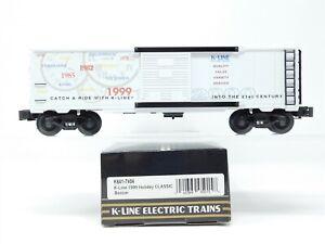 O Gauge 3-Rail K-Line K641-7404 1999 Holiday Classic Boxcar