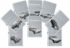 Sturmfeuerzeug mit echter Gravur: Auto Modelle Marke I, J & K - Benzinfeuerzeug