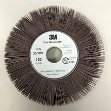 3M 244E Coated Aluminum Oxide Flap Wheel, 6 in x 1 in x 1 in 120 Grit XE-Weight