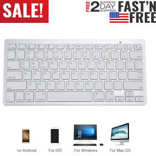 Wireless Keyboard Bluetooth V3.0 Slim Keyboard For PC iOS iPad Android Phone Mac