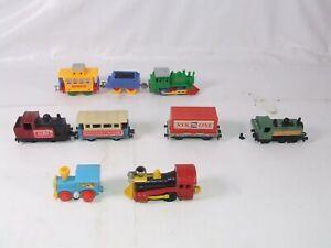 Vintage Trains Bundle Matchbox Size Loco & Carriages Supercar Corgi