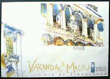 Macau Macao 1997 Verandas  Building Heritage Culture Traditional (miniature FDC)