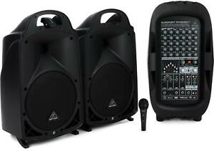 Behringer Europort PPA2000BT 8-channel Portable PA System with Bluetooth