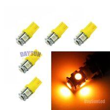 5PCS Yellow T10 W5W Wedge 5SMD 5050 LED Car Auto Light 2825 158 192 168 194