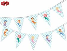 Lovely Happy Mermaids Bunting Banner 15 flags by PARTY DECOR