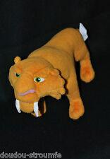 Peluche Doudou Diego Lion Tigre Age De Glace MATTEL 2008 Orange Blanc 32 Cm TTBE