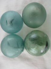 4 Vintage Japanese Glass Floats with Jillions of Bubbles Alaska BeachCombed