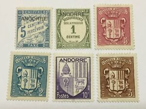 old stamps  ANDORRA    x  6