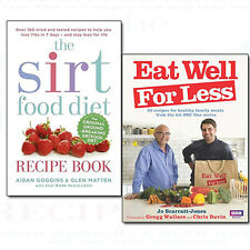 Eat Well for Less and Sirtfood Diet Recipe Collection Stay Healthy 2 Books Set