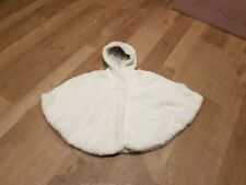 Next Fluffy Soft Cape Coat Age 3-4 Years With Hood Cream