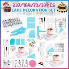 237PCS Set Cake Decorating Supplies Pieces Kit Set Baking Tools Turntable Stand