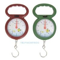 10kg Weighing Portable Numeral Pointer Spring Balance Hanging Scale TN2F