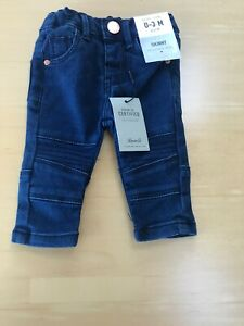 BNWT BABY GIRLS DARK BLUE SKINNY DENIM JEANS AGE 0-3 MONTHS BY DENIM & CO RRP £7