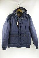 Mens LEVIS Puffer Jacket Coat WESTERN STRAUSS Zipper HOODED XL VERY GOOD UP2RL