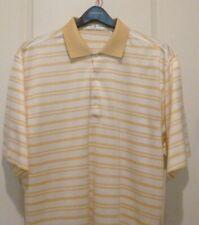 Fairway & Greene Golf Shirt ...XL..Yellow/White stripes