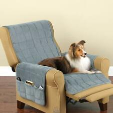 Non-Slip Furniture Protecting Pet Cover Recliner 24x84 Blue Washable