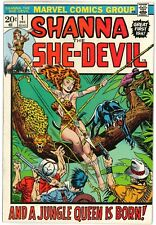 Shanna the She-Devil, Complete #1 to 5, High Grade, F+ to VF+, 2 Steranko covers