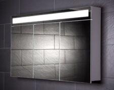 120 cm Spiegelschrank EVEN120 Spiegel Badezimmerschrank Beleuchtung Steckdose