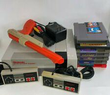 Nintendo NES Console REFURBISHED ORIGINAL 72 PINS Bundle 500+ games Zapper