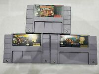 SNES Donkey Kong Country 1, 2 & 3 Super Nintendo Games