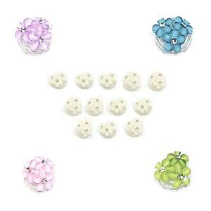 12 pcs Bridal Hair Pins Pearls Crystal Wedding Spiral Twist