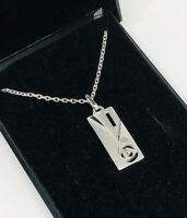 Kit Heath Necklace Charles Rennie Mackintosh Style Silver 925 Pendant & Chain