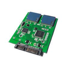 2 Port Dual SD SDHC MMC Memory Card to 7+15P SATA Serial ATA Converter Adapter