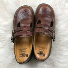 Dr Martens Women's Mary Jane 8065 Brown US 8.5 UK6 Double Strap Harvest Smooth