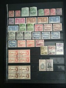 ANTIGUA 1884 - 1951, Mixed Good Used Lot,  42 stamps.