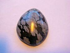 Snowflake Obsidian Free form Pear Cabochon Cut 22x18 mm 12 Cts Natural Gem B6