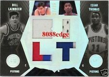 2007-08 UD BLACK QUAD PATCH: BILL LAIMBEER/ISIAH THOMAS #17/25 DETROIT PISTONS