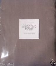 Restoration Hardware Walnut Stonewashed Cotton Linen Drapery Rod Pocket 50 X 120