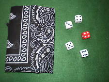 """MAGIC TRICK """"CAUGHT RED HANDED"""" PK MENTALISM STRONG MIND READINWHITE DICE"""