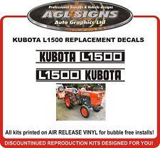 KUBOTA L1500  Reproduction Decal Set