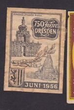 Ancienne étiquette allumettes Allemagne BN33464 Dresden Juin 1956