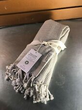Zestt Grey/Cream Cotton Throw- 50 x 70- NWT