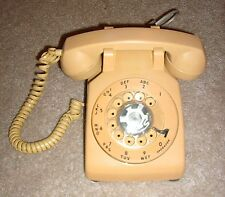 Authentic VTG Yellow Rotary Corded Desk Telephone-Works! -Blast from the Past!*