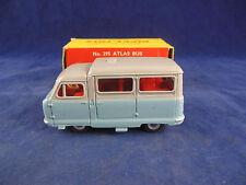 Dinky toys 295 atlas autobus en gris sur bleu clair un superbe & original