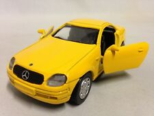 """1998 Mercedes Benz SLK Collection 5"""" DieCast 1:32 Pull Back NewRay Toys Yellow"""