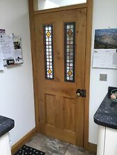 Solid Oak Four Panel Door Glazed  No VAT! Interior Hardwood