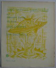 Basil rakoczi 7 poems en francais 1968 illustrated by Alexandre sarres white stag