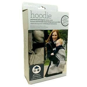 Infantino Baby Carrier Hoodie Cover Universal All Season Warmer Gray