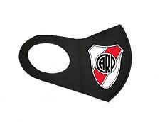 NEW ARGENTINA SOCCER RIVER PLATE UNISEX FACE MASK FOOTBALL BLACK WASHABLE MASK